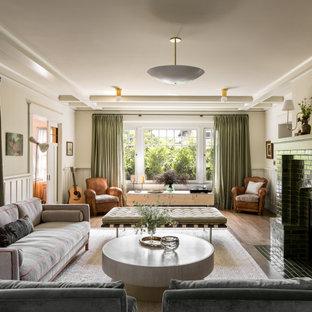 Living Room of a historic Craftsman residence in Santa Monica, CA