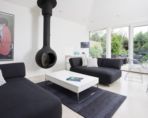 Suspended Fireplace Houzz