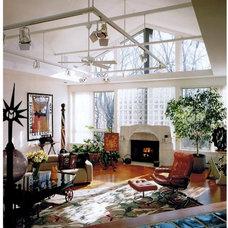 Eclectic Living Room by Pamela J. Jenkins Architect P.C.