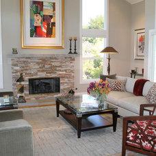 Contemporary Living Room by Patti Ogden Design