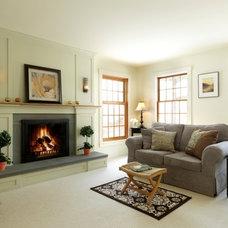 Contemporary Living Room by Peregrine Design Build