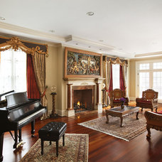 Traditional Living Room by Prestige Custom Building & Construction, Inc.