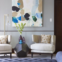 modern living room by Rachel Reider Interiors