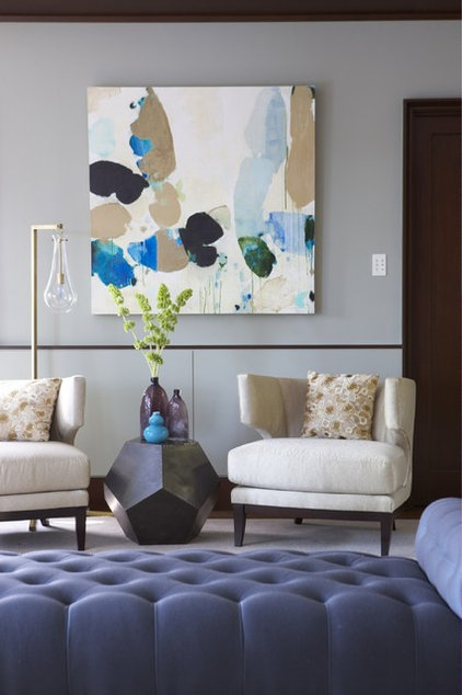 contemporary living room by Rachel Reider Interiors