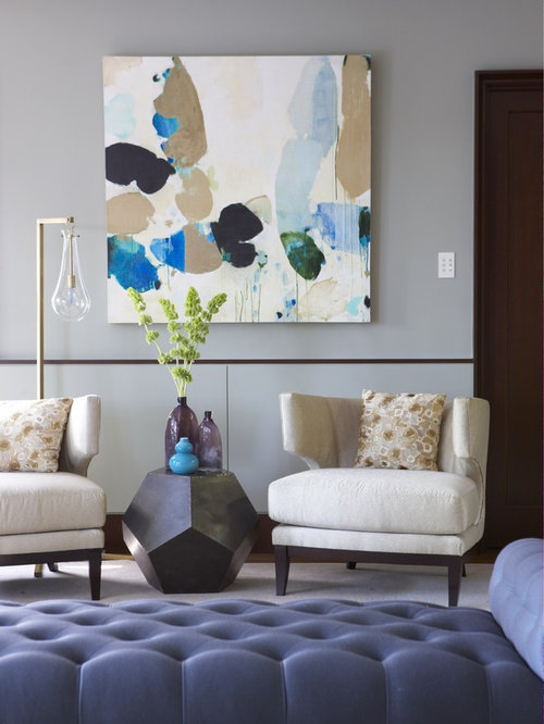 Modern living room art houzz Living room art