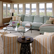 Beach Style Living Room by Rachel Reider Interiors