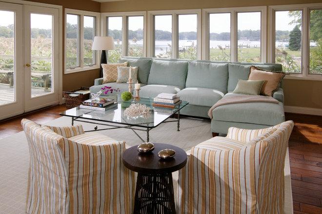 Beach Style Living Room by Rachel Reider Interiors