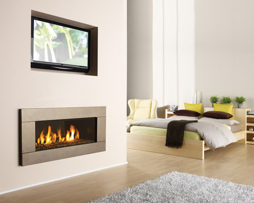 Modern gas fireplace ideas pictures remodel and decor for Modern living room gas fires