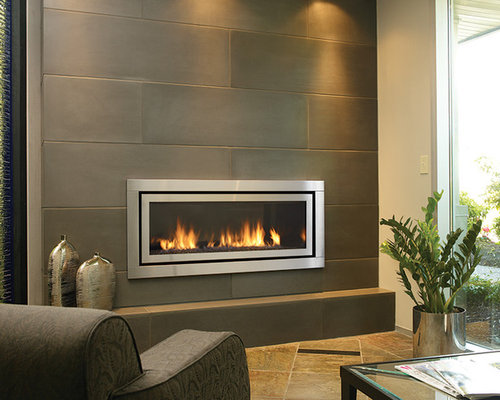 concrete tile fireplace design ideas remodel pictures houzz
