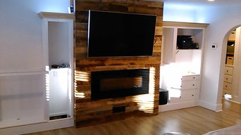 Living Room Remodel - Electric Fireplace & LED Lighting
