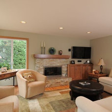 Traditional Living Room by Renewal Remodels and Additions
