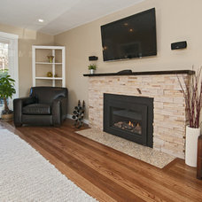 Contemporary Living Room by Vertical Construction Group LLC