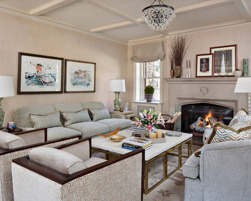 Perfect Elegant Formal Living Room Photo In Philadelphia With Beige Walls, A  Standard Fireplace And A Part 26