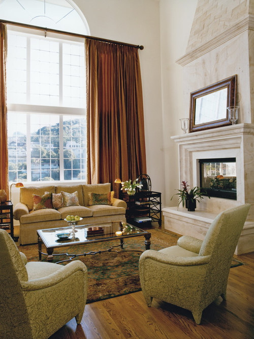 Rust curtains houzz for B q living room curtains