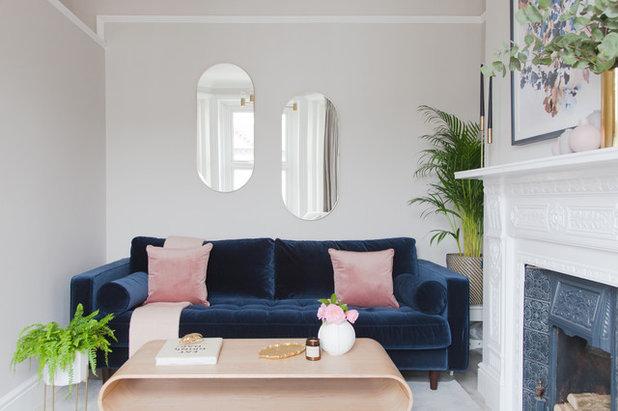 Transitional Living Room by Rukmini Patel Interior Design