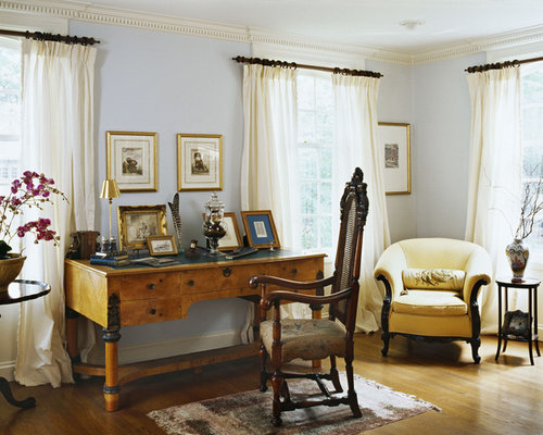 Inspiration For A Timeless Living Room Remodel In Newark With Blue Walls