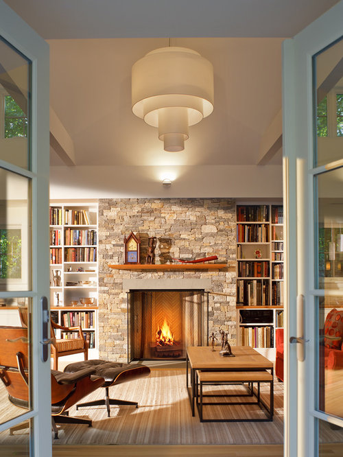 Fireplace Flanked By Bookcase Home Design Ideas Pictures