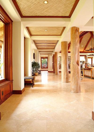 Tropical Living Room by Saint Dizier Design