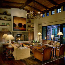Rustic Living Room by Saint Dizier Design