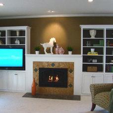 Traditional Living Room by Fiorito Interior Design