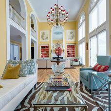 eclectic living room by S&K Interiors