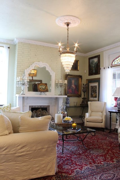 Eclectic Living Room by Sara Bates