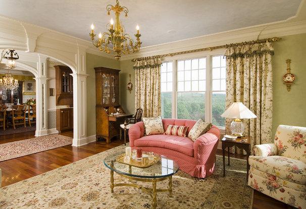 Traditional Living Room by Sara Hopkins