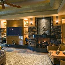 Mediterranean Living Room by Pinnacle Architectural Studio
