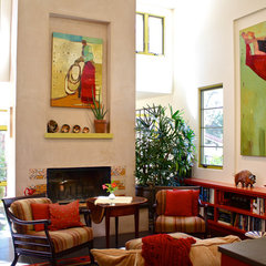 mediterranean living room by Shannon Malone