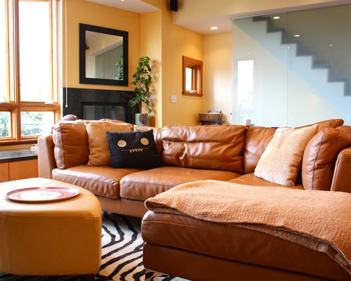Caramel Couch Houzz