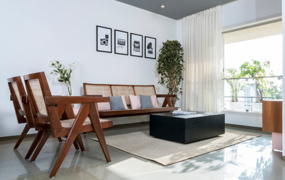 Mumbai Houzz: Grey Ceilings & White Walls Expand a 66-Sq-M Flat