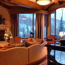 Mediterranean Living Room by Spencer Interior Design