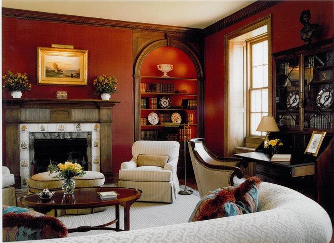 Traditional Living Room by Sroka Design, Inc.