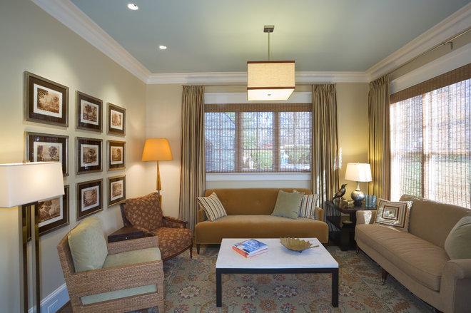 Contemporary Living Room by Sroka Design, Inc.