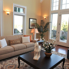 Contemporary Living Room by Synergy Staging