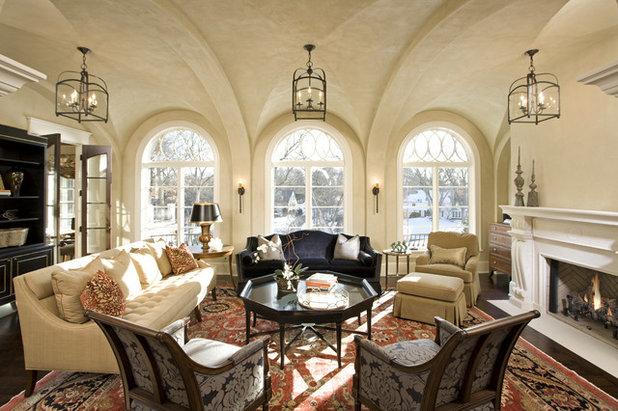Rustic Living Room by Stonewood, LLC