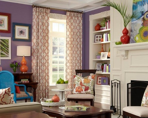 Beige living room design ideas remodels photos with - Beige and purple living room ...
