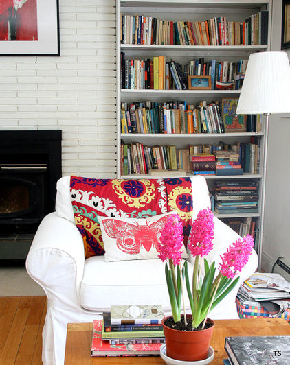 eclectic living room by Tamar Schechner