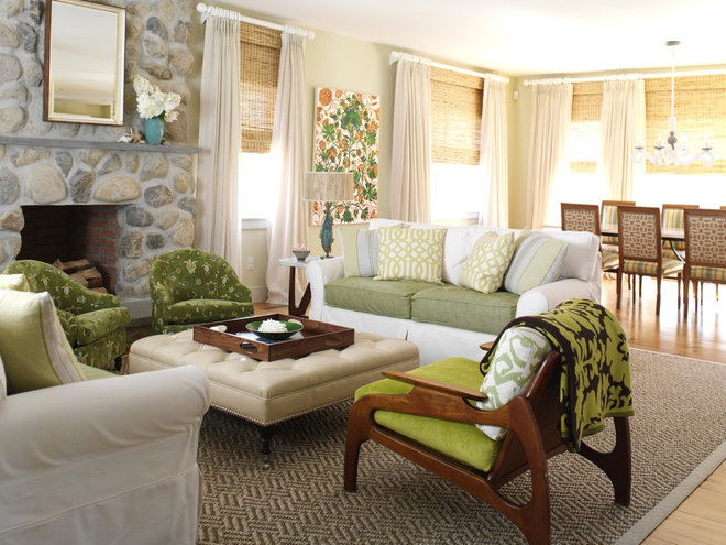Beach Style Living Room by Tara Seawright