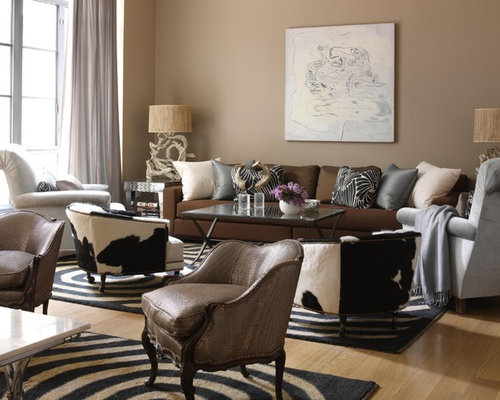 Large Traditional Formal And Open Concept Light Wood Floor And Beige Floor Living  Room Idea In Part 43