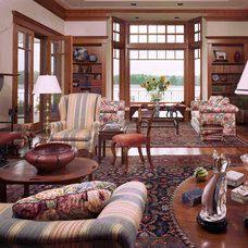 Traditional Living Room by Richard Brown Architect AIA