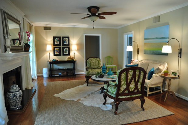 Traditional Living Room by Alison Giese Interiors