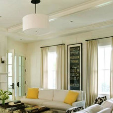 Transitional Living Room by The Curtain Exchange - Atlanta