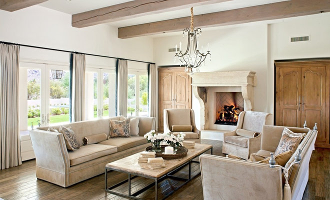 Traditional Living Room by Palm Design Group