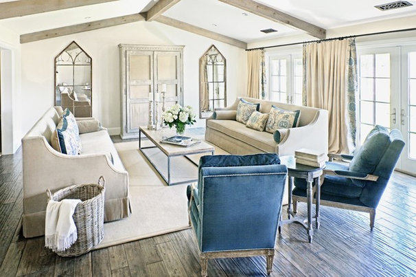 Farmhouse Living Room by Palm Design Group