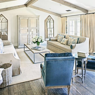 Inspiration for a large transitional living room remodel in Phoenix with beige walls