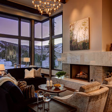 Contemporary Living Room by THINK architecture Inc.