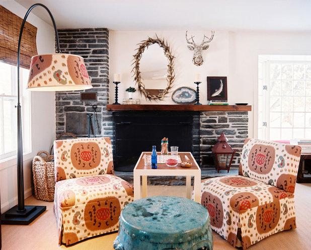 Shabby-chic Style Living Room by TILTON FENWICK
