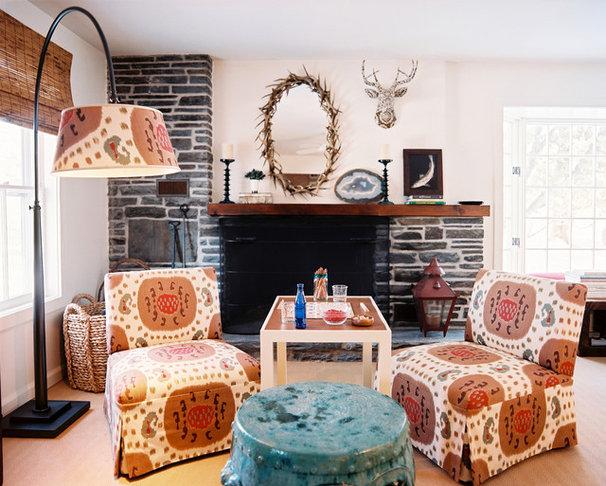 Eclectic Living Room by TILTON FENWICK