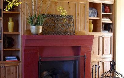 Painted Fireplace Mantels Add Pizzazz